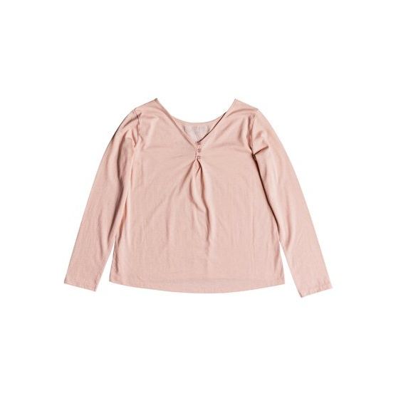 ROXY SKINNY LOVE LIGHTS-LONG SLEEVE TOP FOR GIRLS 8-16-PINK