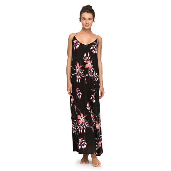 ROXY SURF POWER-BEACH MAXI DRESS FOR WOMEN-BLACK