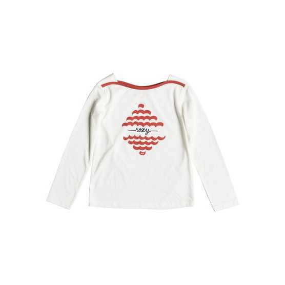 ROXY TAKE A BREATH-LONG SLEEVE TOP FOR GIRLS 2-7-WHITE