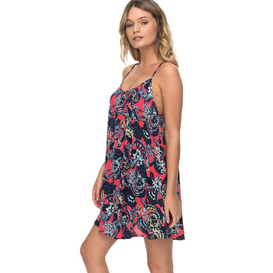 ROXY WINDY FLY AWAY-STRAPPY DRESS FOR WOMEN-PINK