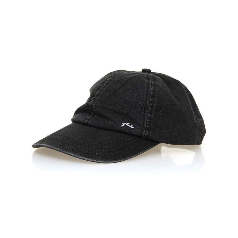 Rusty Solid Adjustable Cap Worn Black