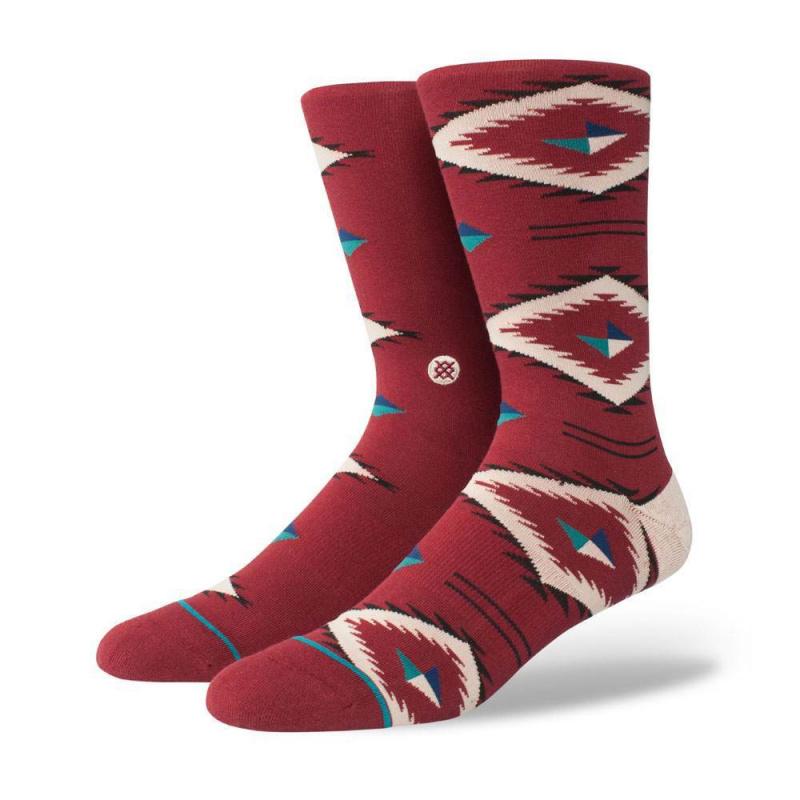 Stance Burke Socks Red