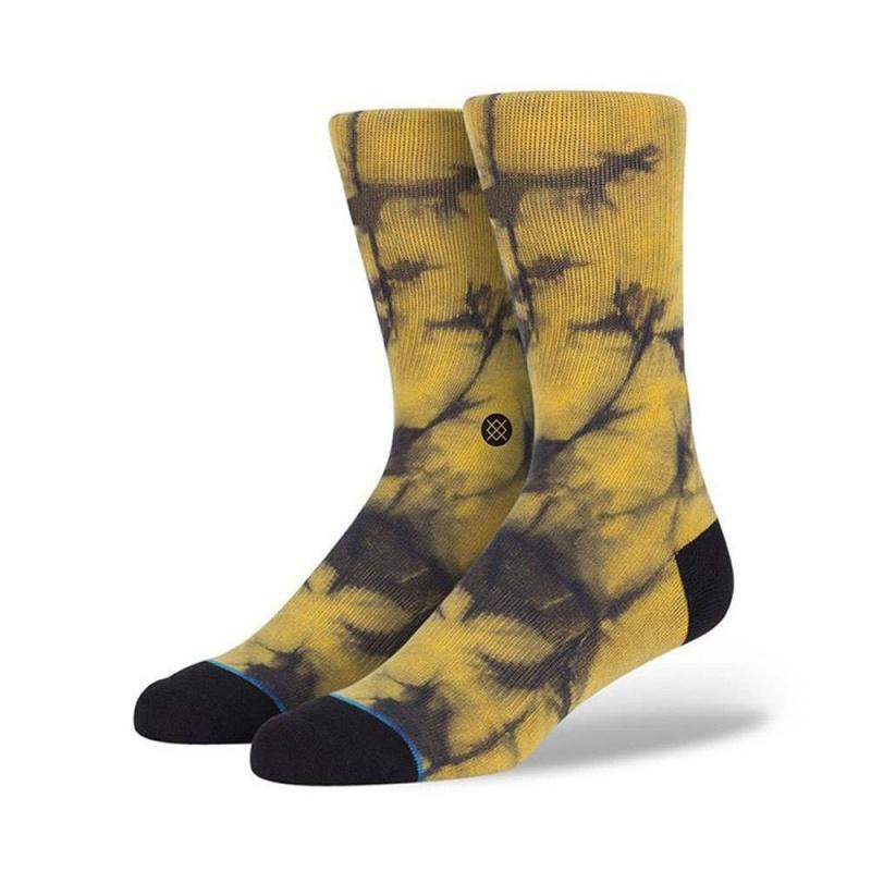 STANCE BURNOUT SOCKS Yellow