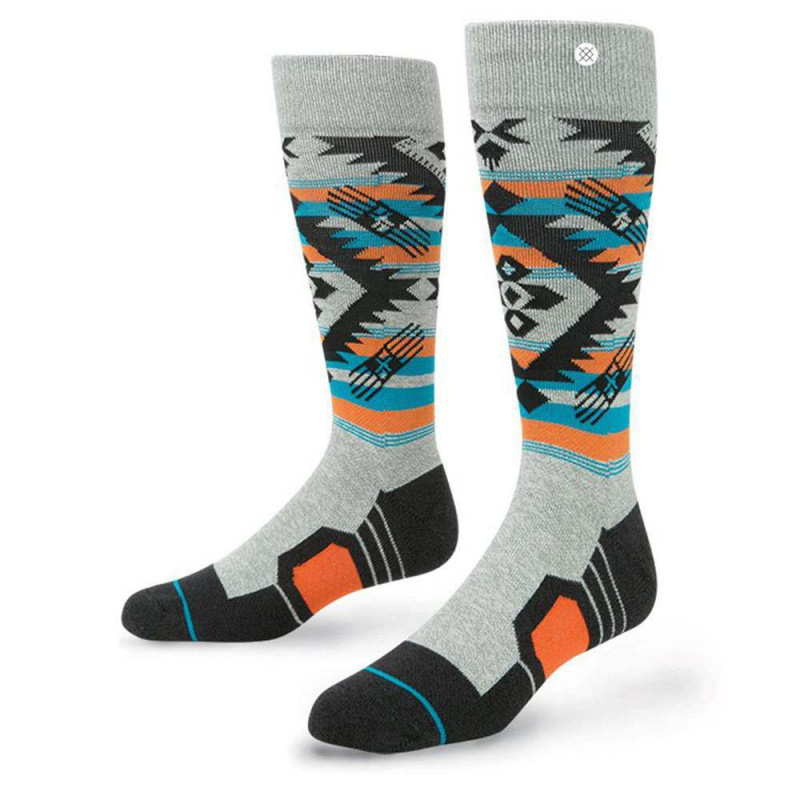 Stance Granite Chief Fusion Snow Socks Grey Heathe