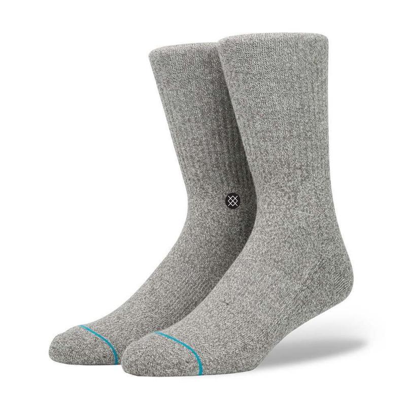 Stance Icon Staple Socks Grey Heather
