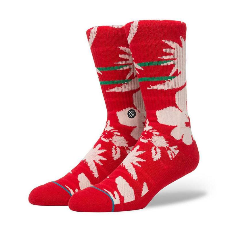 Stance Maui St Nick Socks Red