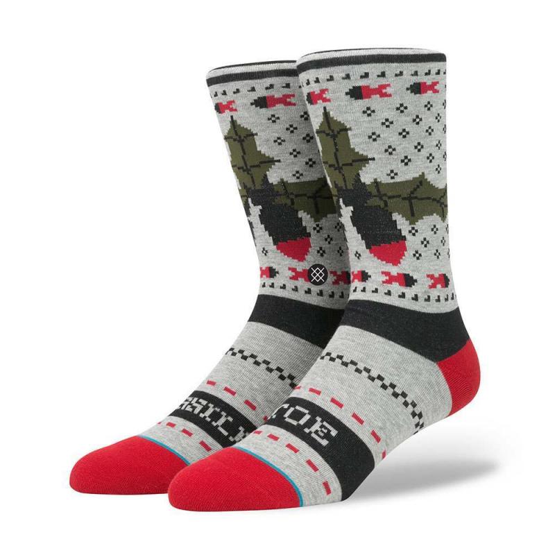 Stance Missle Toe Socks Grey