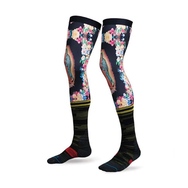 Stance Moto Striker Knee Brace Socks Navy