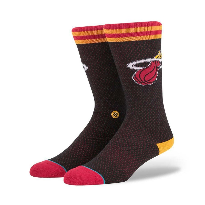 Stance NBA Heat Jersey Socks Black