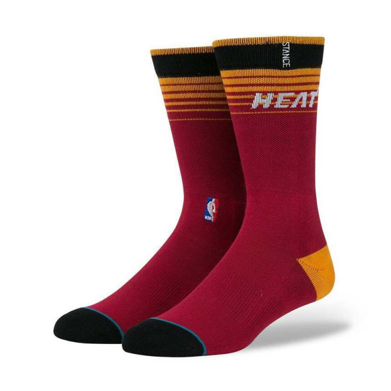 Stance NBA Miami Heat Arena Logo Socks Red