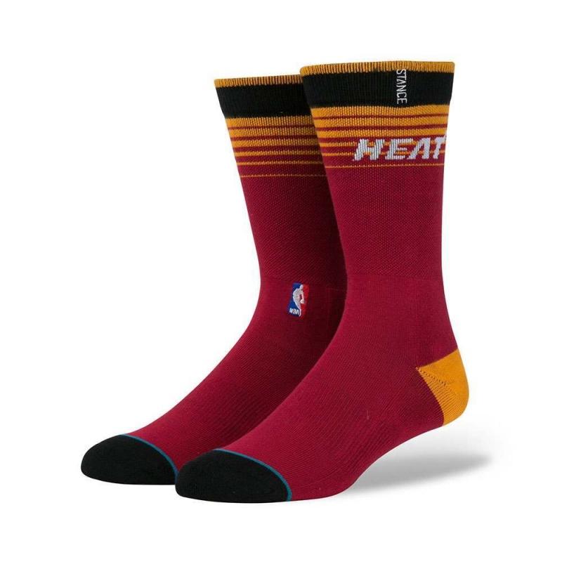 Stance NBA Miami Heat Arena Logo Socks Yellow