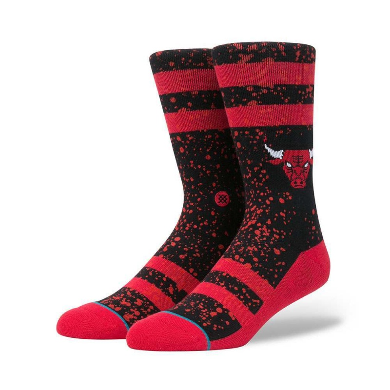 Stance Overspray Bulls Socks Black/Red