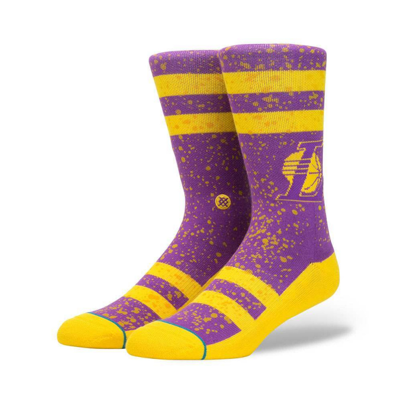 Stance Overspray Lakers Socks Purple