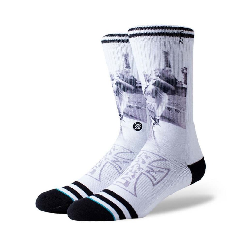 Stance Venice Skate Socks White