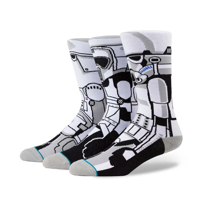 Stance X Star Wars Trooper Triple Pack Socks White