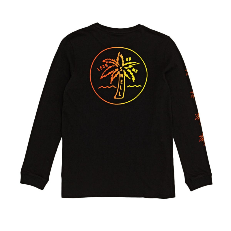 SWELL LEAN ON ME LONG SLEEVE T-SHIRT BLACK