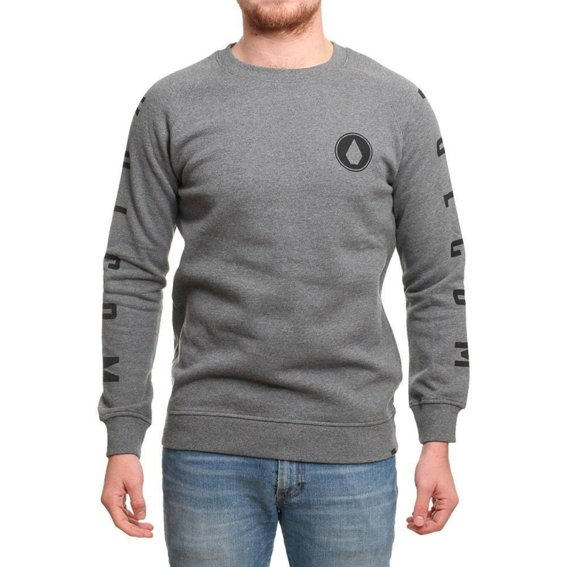 Volcom Stone Pack Crew Heather Grey